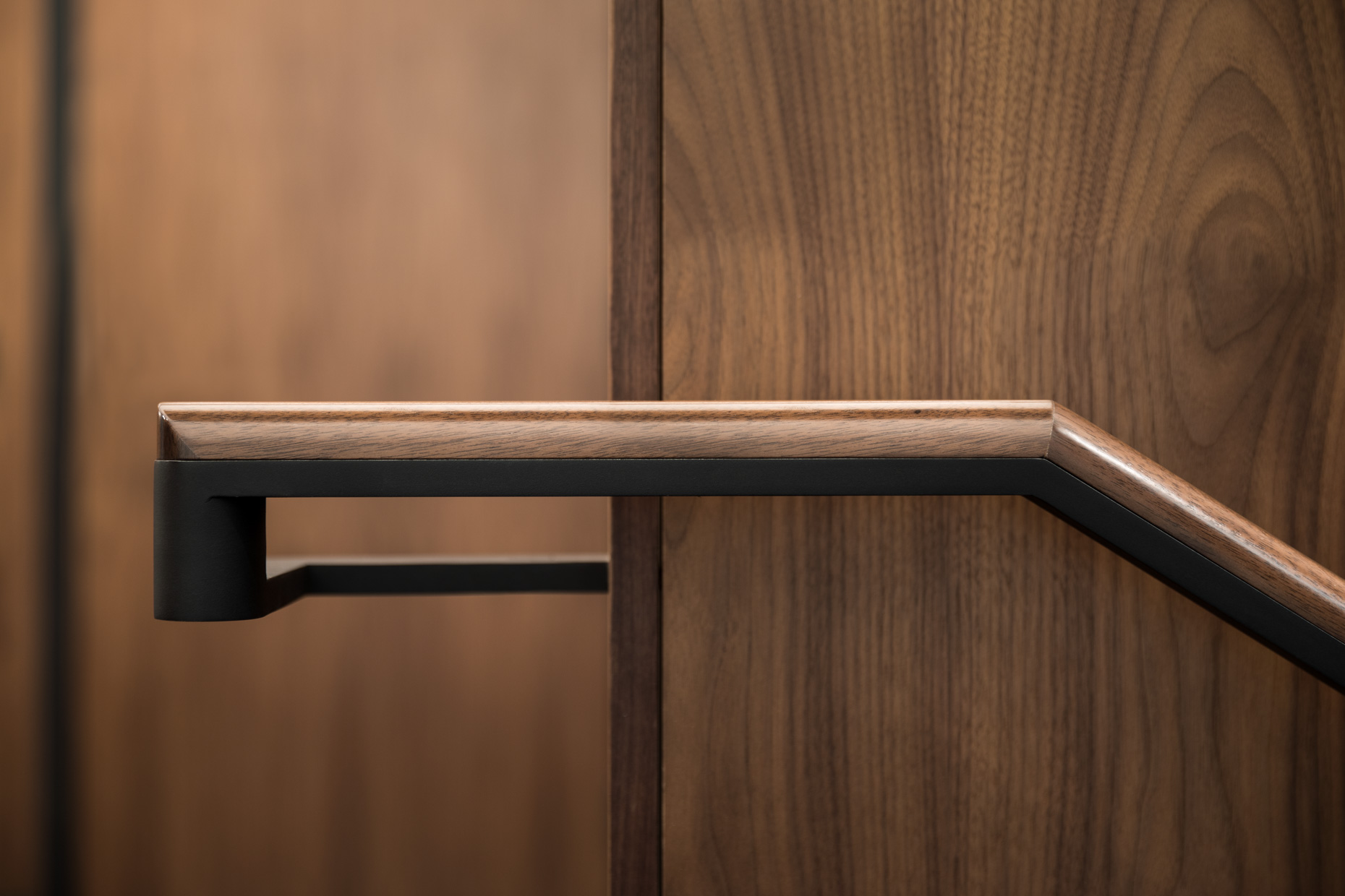 Walnut Railing Detail