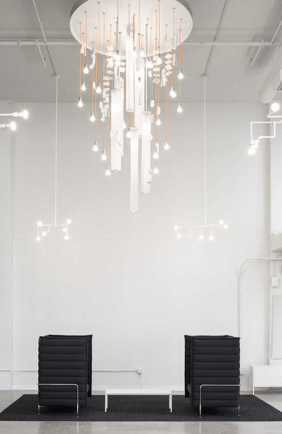 Commercial Interior with Chandelier