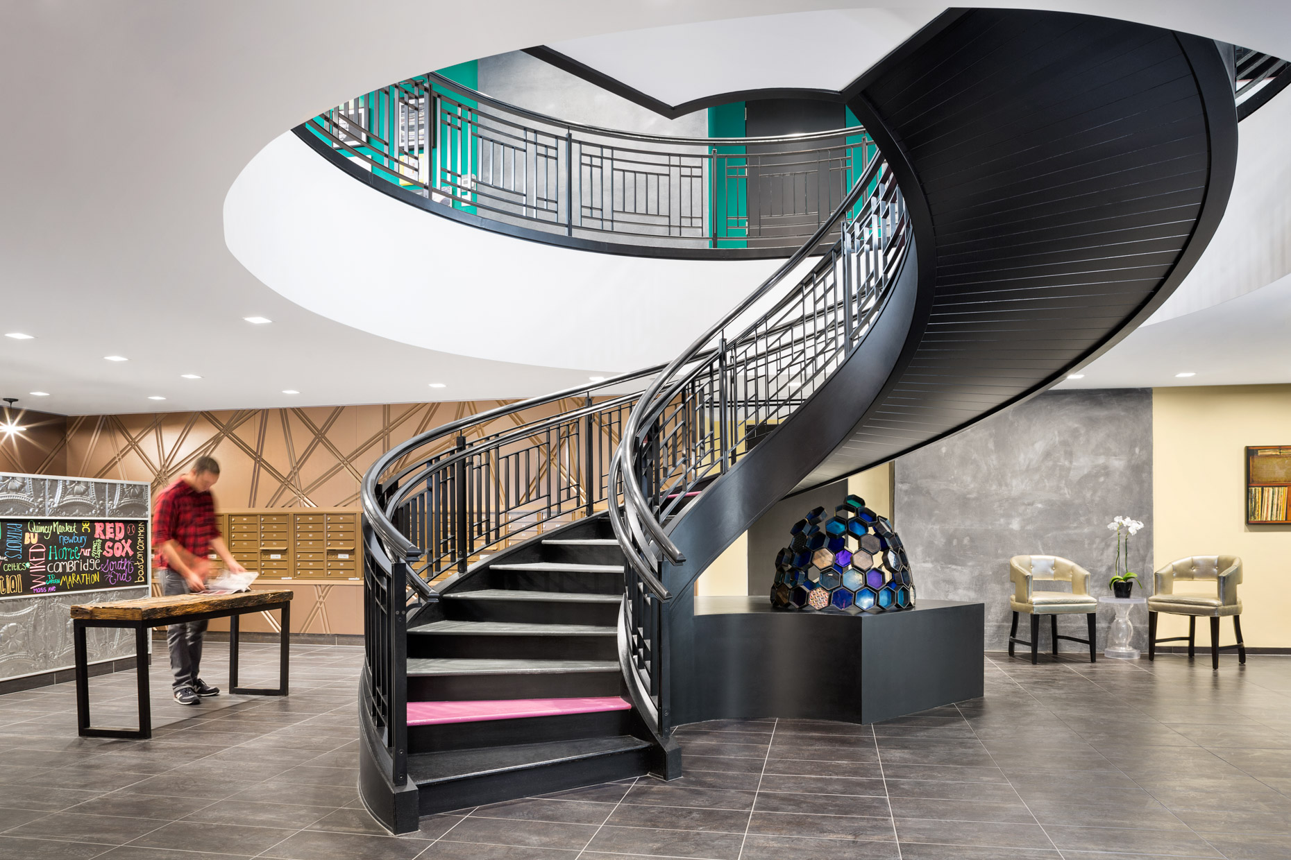 Lobby with Spiral Staircase