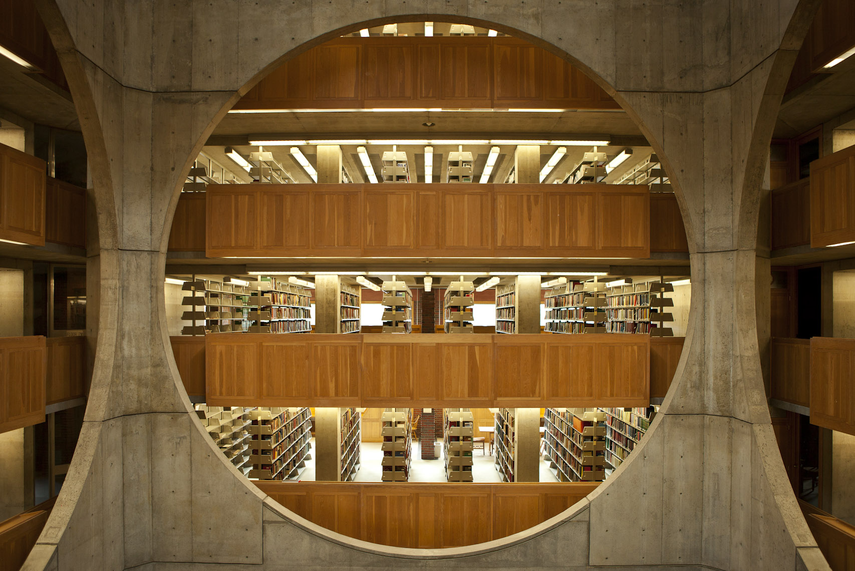 Architectural Library Interior