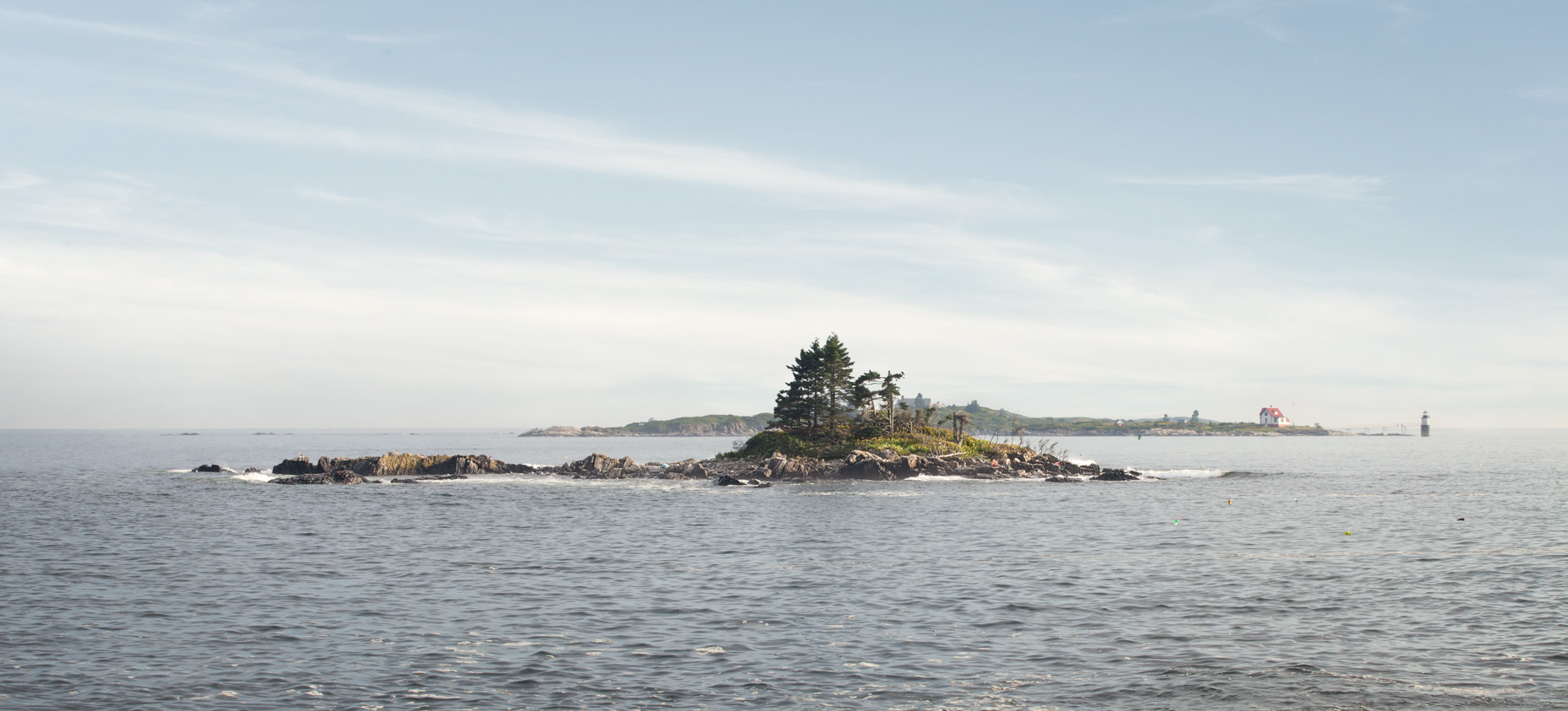 Lighthouse on Maine Island